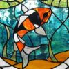 Koi fish Stained glass pen blank