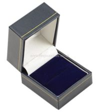 Blue Leatherette Ring Box