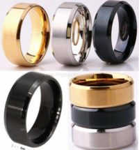 s-l50Stainless Steel Bevelled ring core - silver black gold - 8mm0