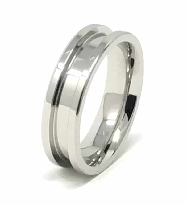 6mm Inlay Stainless Steel Ring Core