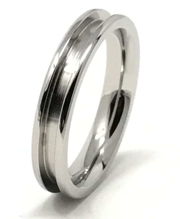 4mm Inlay Stainless Steel Ring Core