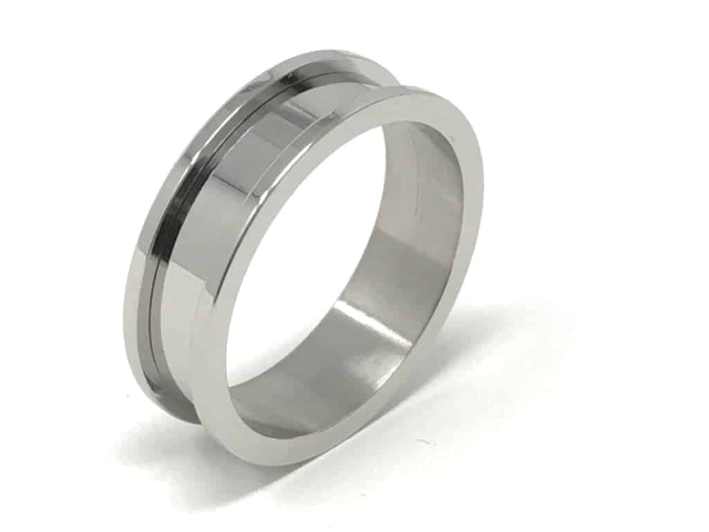 8mm Inlay Stainless Steel Ring Core