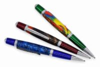 Chrome & Blue Cerra Pen Kit | Greenvill Crafts
